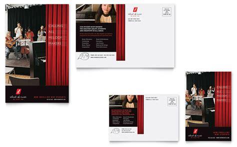 Music School Postcard Template Design School Postcard Template