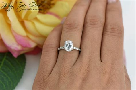 2 carat oval solitaire ring engagement ring half