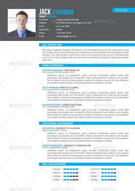 professional resume set by voryu graphicriver