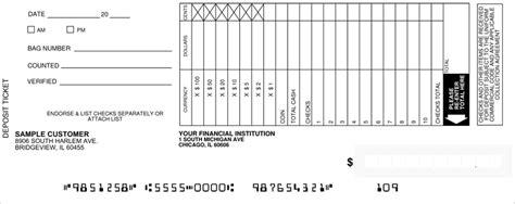 carbonless deposit ticket books quick scan custom loose business deposit slips style 4