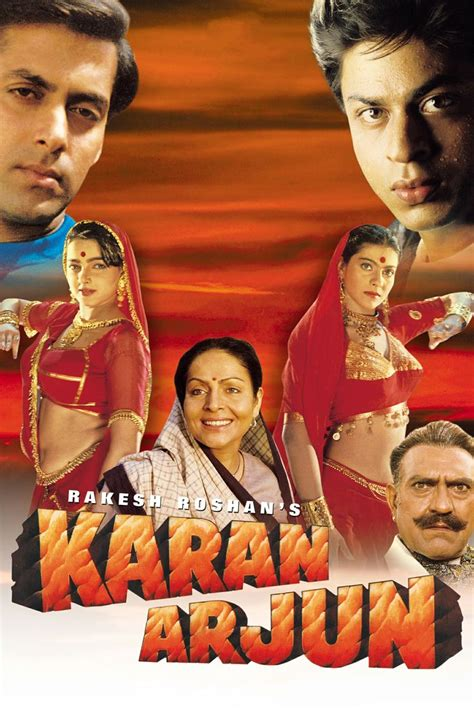 film india terbaru shahrukh khan full movie karan arjun 1995 shahrukh khan hindi movie posters