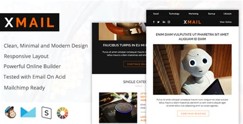 Xmail Modern Email Design Responsive Drag And Drop Builder Download Nulled Templates Free Free Email Template Builder Drag And Drop