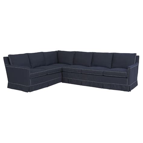 slipcovered sectional kyle slipcover sectional luxe home company