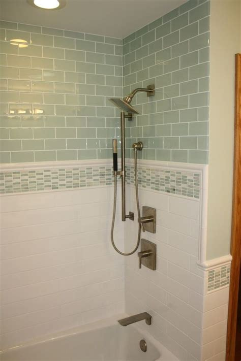 Tile Bordir Two Tone Import 37 green glass bathroom tile ideas and pictures