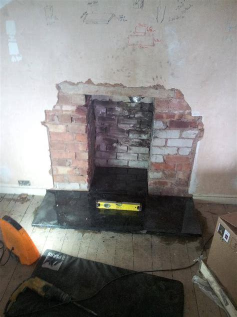 Fitting a hearth for a wood burning stove / log burner
