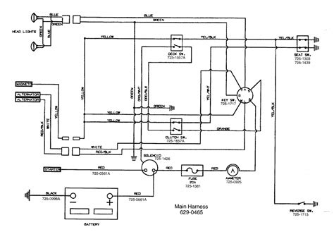 mtd lawn mower wiring diagram mtd free engine
