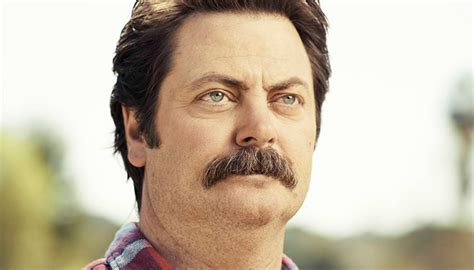 how to grow a mustache ron swanson style