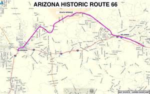 map route 66 arizona roadrunner s list roads historic route 66 in