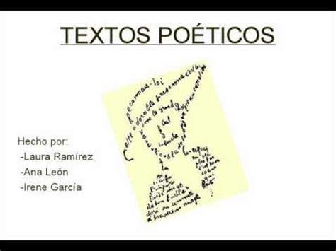 imagenes sensoriales de un texto poetico los textos po 233 ticos youtube