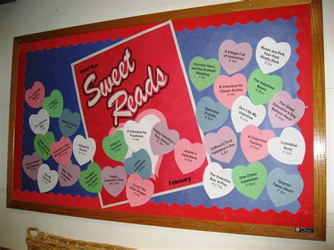 bulletin board ideas for valentines day library displays valentines sweet reads