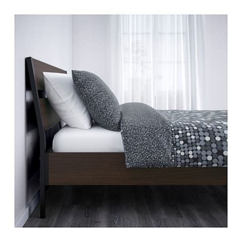 trysil bed trysil bed frame dark brown lur 246 y standard double ikea