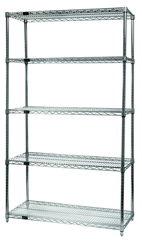 wire storage 5 shelf stationary rack carts