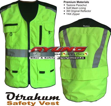 rompi parasut safety vest security lapangan proyek bandara jaket jacket pesan jaket