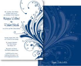 blue wedding invitation design blue wedding invitation
