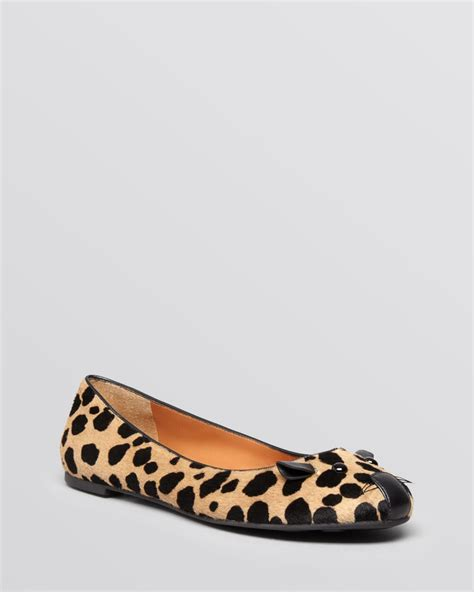 leopard print ballet flats shoes marc by marc ballet flats mouse haircalf leopard