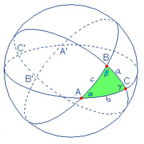 quanto misurano gli angoli interni di un triangolo triangolo sferico