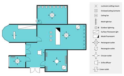 conceptdraw sles building plans reflected ceiling