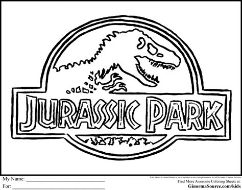 Jurassic Park Coloring Pages Jurassic Park Coloring Pages Coloring Home