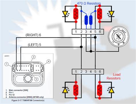 wiring resistors for led indicators xr1200 leds