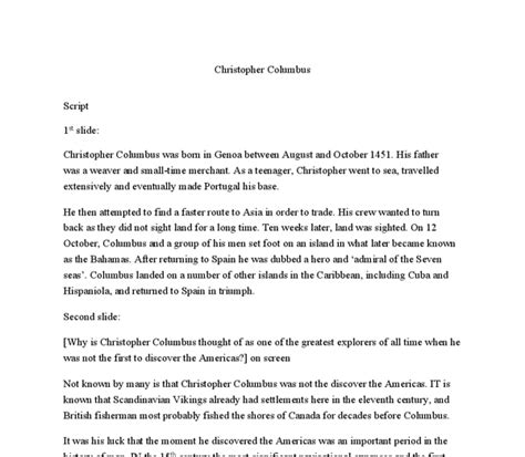 christopher columbus research paper thesis statement for christopher columbus