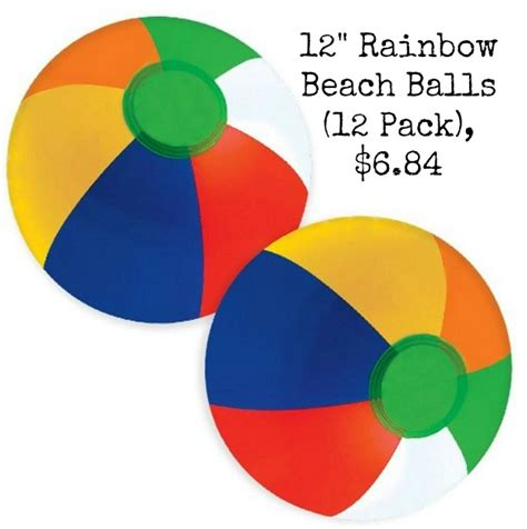 12 best images about pops beach office on pinterest 12 quot rainbow beach balls 12 pack 6 84
