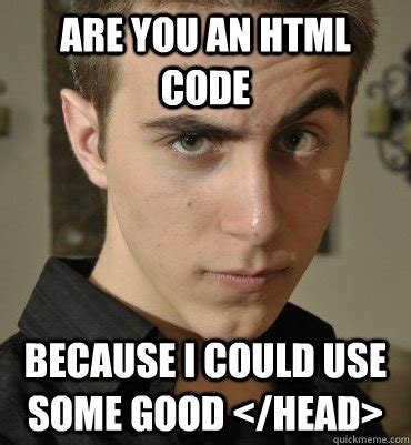 Good Head Meme - are you an html code because i could use some good