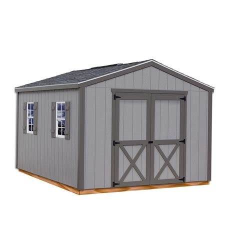 metal shed kits best barns elm 10 ft x 16 ft wood storage shed kit with floor elm 1016df the home depot