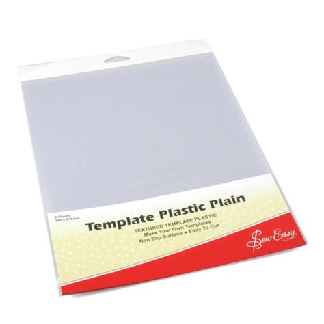 Template Plastic Sheets by Template Plain Plastic 2 Sheets Per Pack Deany Fabrics