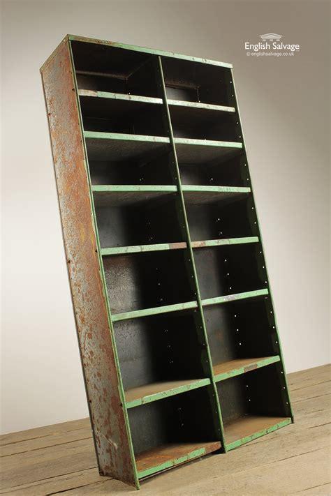 vintage steel pigeon hole storage shelf unit