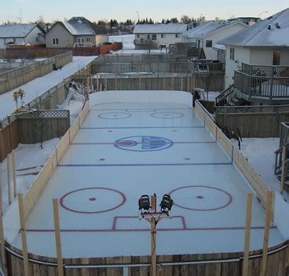 backyard rink ideas the boys would love this too bad our yard is on a slight