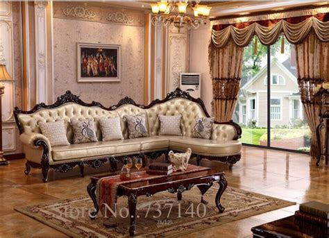 Como Decorar Mi Casa De Campo #2: Chaise-reclining-armchair-Luxury-Baroque-Style-Living-Room-Furniture-L-shape-sofa-Set-wood-and-leather.jpg