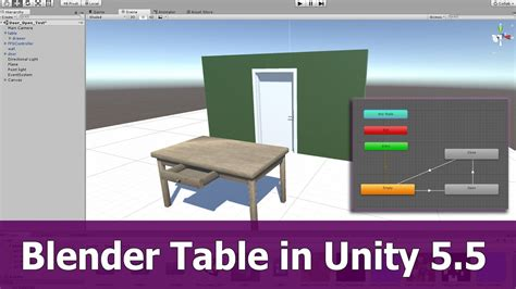 tutorial blender table blender table animation in unity 5 youtube