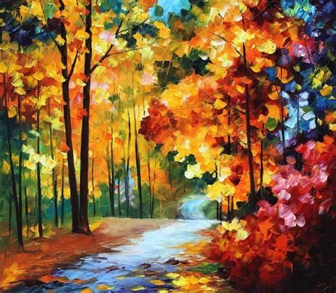 Original Painting On Canvasautumn Landscapemodern Leonid Afremov On Canvas Palette Knife Buy Original