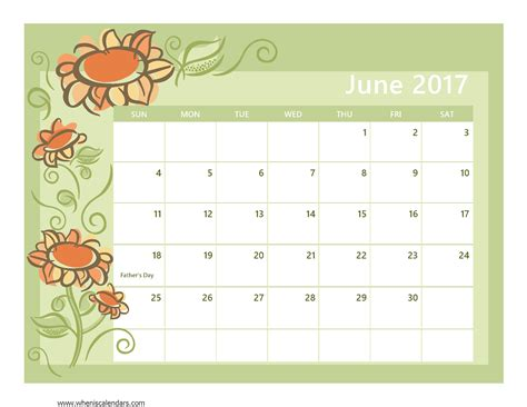 Calendar 2017 June Month 2017 Calendar Printable With Holidays Calendar 2017 2018