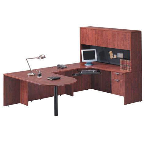 bullet u desk closed hutch office furniture ez