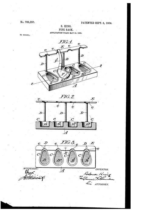 tobacco pipe rack plans patent us769350 pipe rack google patents