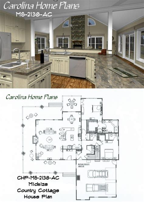house floor plan layouts midsize country cottage house plan with open floor plan