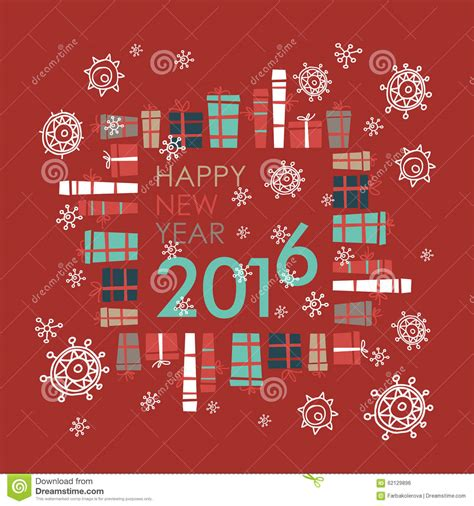 happy new year element vector design happy new year 2016 greeting card design element stock