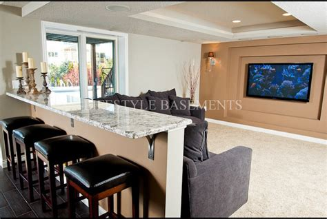 Kitchen Island Dimensions With Seating by Snack Ledge Media Wall
