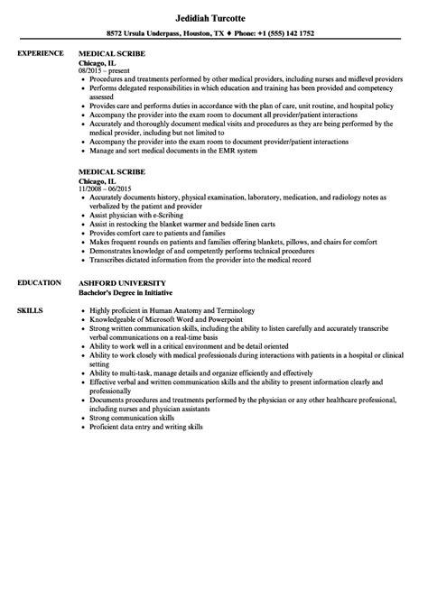 Scribe Resume by Scribe Resume Sles Velvet