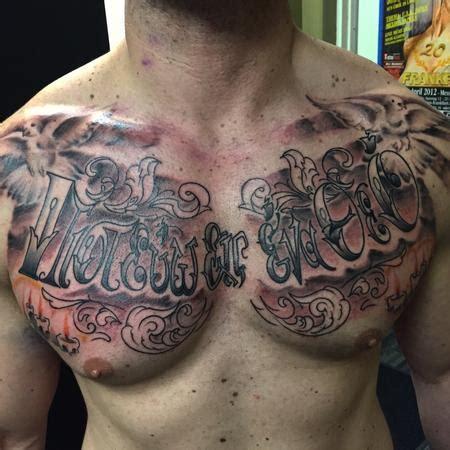 christian tattoo artist kansas city lettering one god