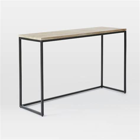 Box Frame Console Table Wood Antique Bronze West Elm West Elm Sofa Table