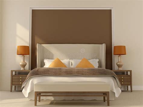 Dekor Schlafzimmer by Beige Schlafzimmer Mit Orange Dekor Lizenzfreie Stockfotos