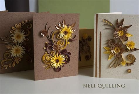 Handmade Creative Cards - creative paper quilling patterns by neli chilli