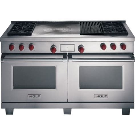 Oven Gas 60 X 40 wolf df604cf 60 quot dual fuel range with 4 sealed burners