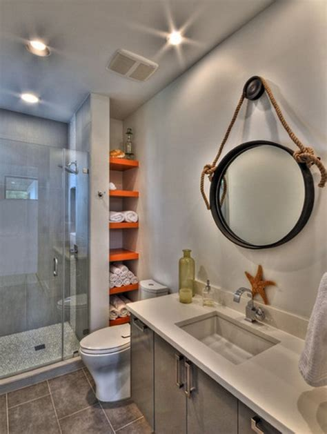 Hanging Bathroom Mirrors Add Rustic Charm To Your Home With Rope Hanging Accent Features