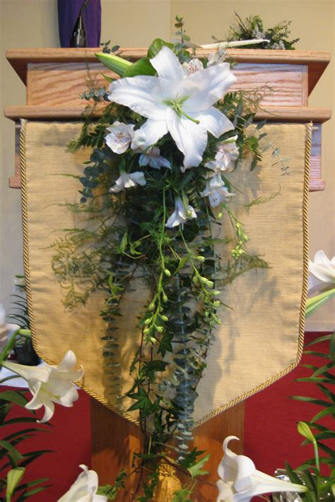 Fall Wedding Church Decorations - arrangement church altar white 6 anderson florist life learning flowers
