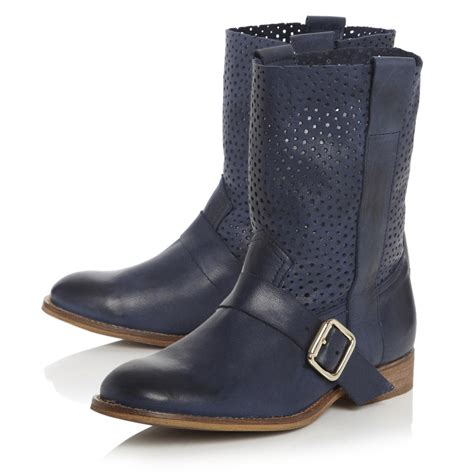womens navy blue boots bertie ronda womens navy blue punch ankle