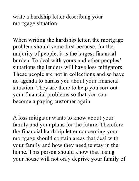Sle Mortgage Hardship Letter Loan Modification Hardship Letter For Mortgage Reduction