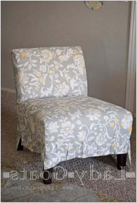 armless slipper chair slipcovers armless accent chair covers chairs home decorating